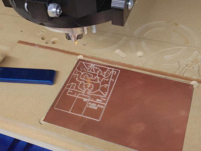 Make PCB on CNC router (voronoi)